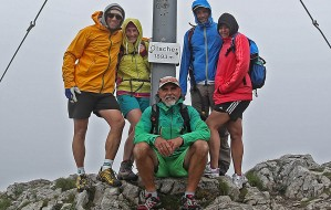 25. Gipfel des Ötscher mit v.l.n.r.: Gregor Hartl, Gaby Buchmayr, Christian Thalhammer, Andreas Prammer, Martina Schön